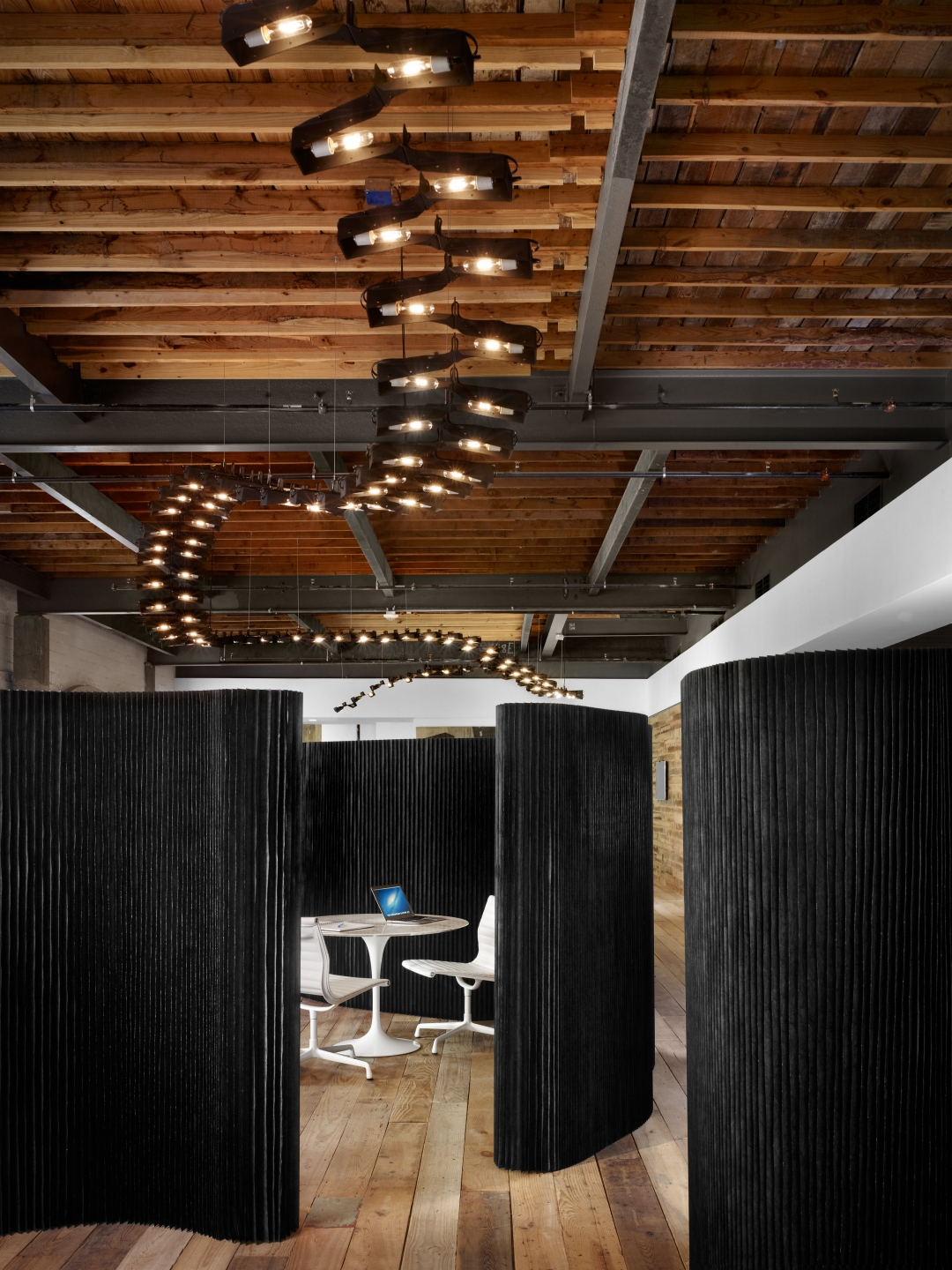 molo black textile softwalls at the Peddle LLC office in Austin