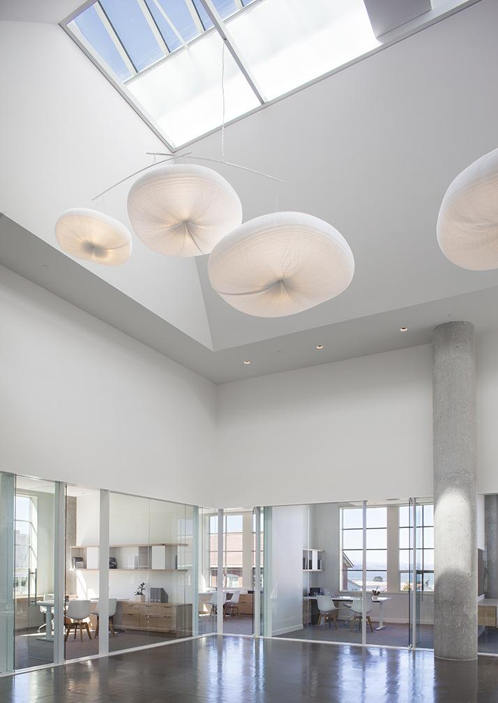 Paper Lighting Pendants - cloud softlight at Presidio VC Offices in San Francisco