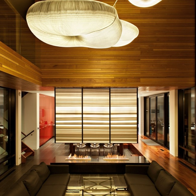 cloud softlight pendants at the thorncrest residence in