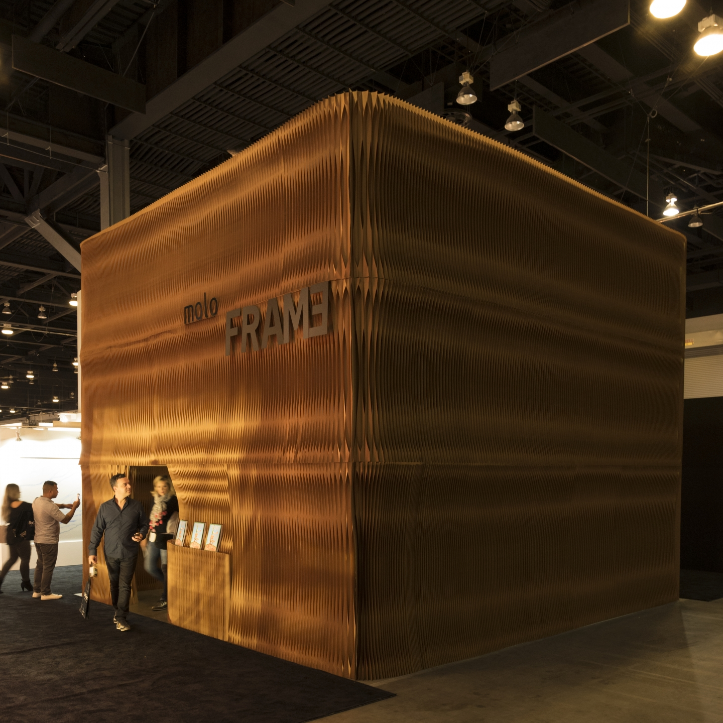 Trade show booth ideas: molo softwall stacked to create a paper room. portable partition walls by molo