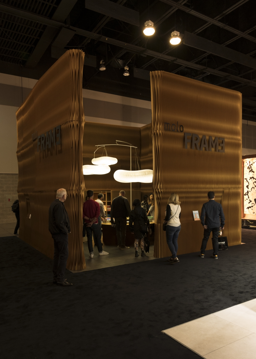 Paper trade show stand at IDS Vancouver 2017. portable partition walls by molo