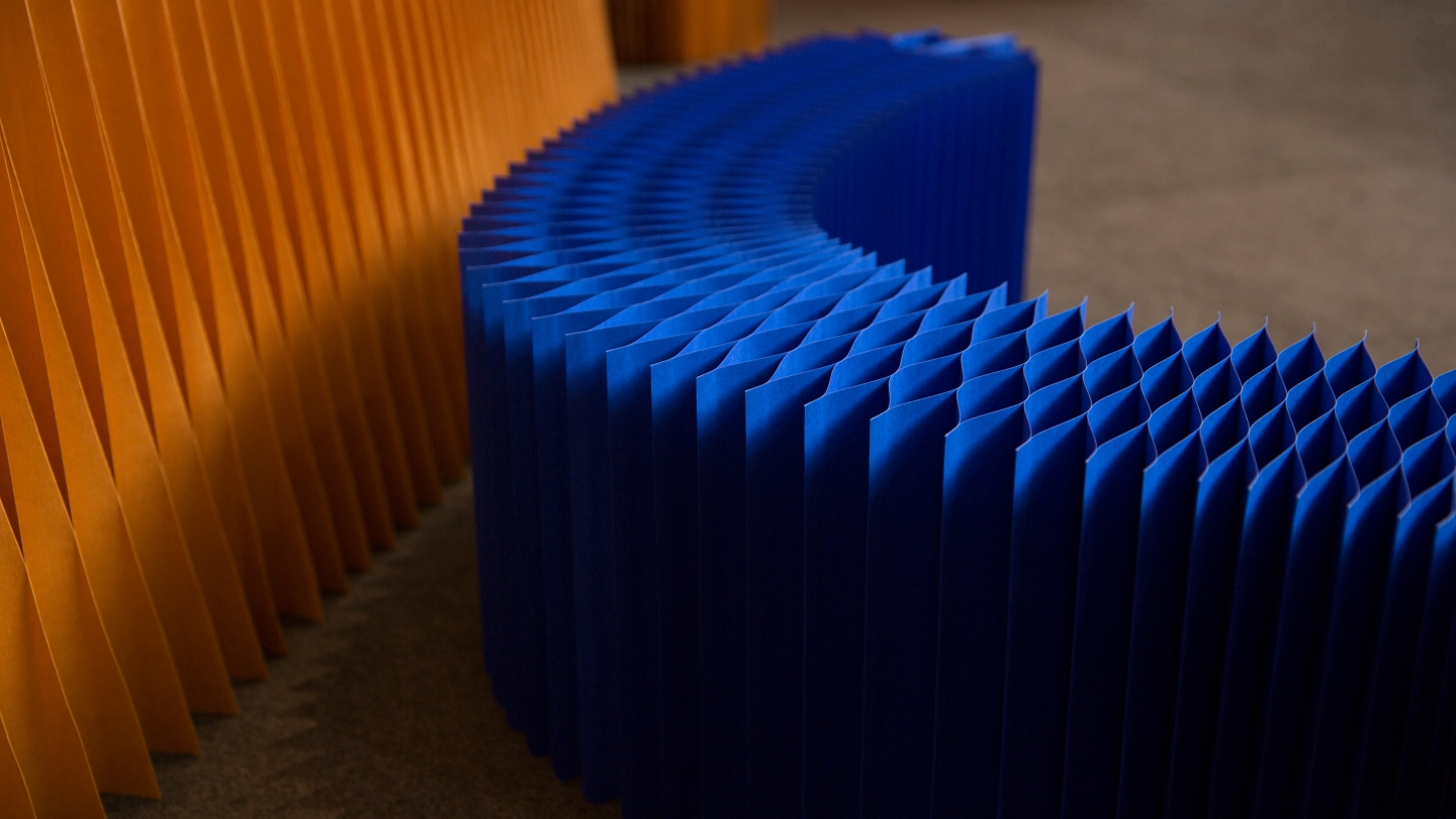 Indigo paper softblock. modular wall partition
