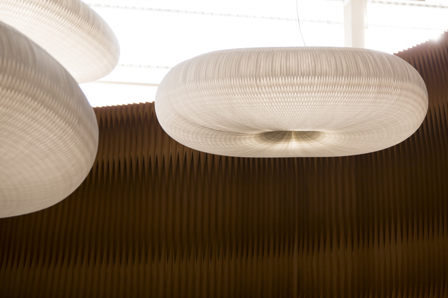 detail of cloud softlight at Maison et Objet.