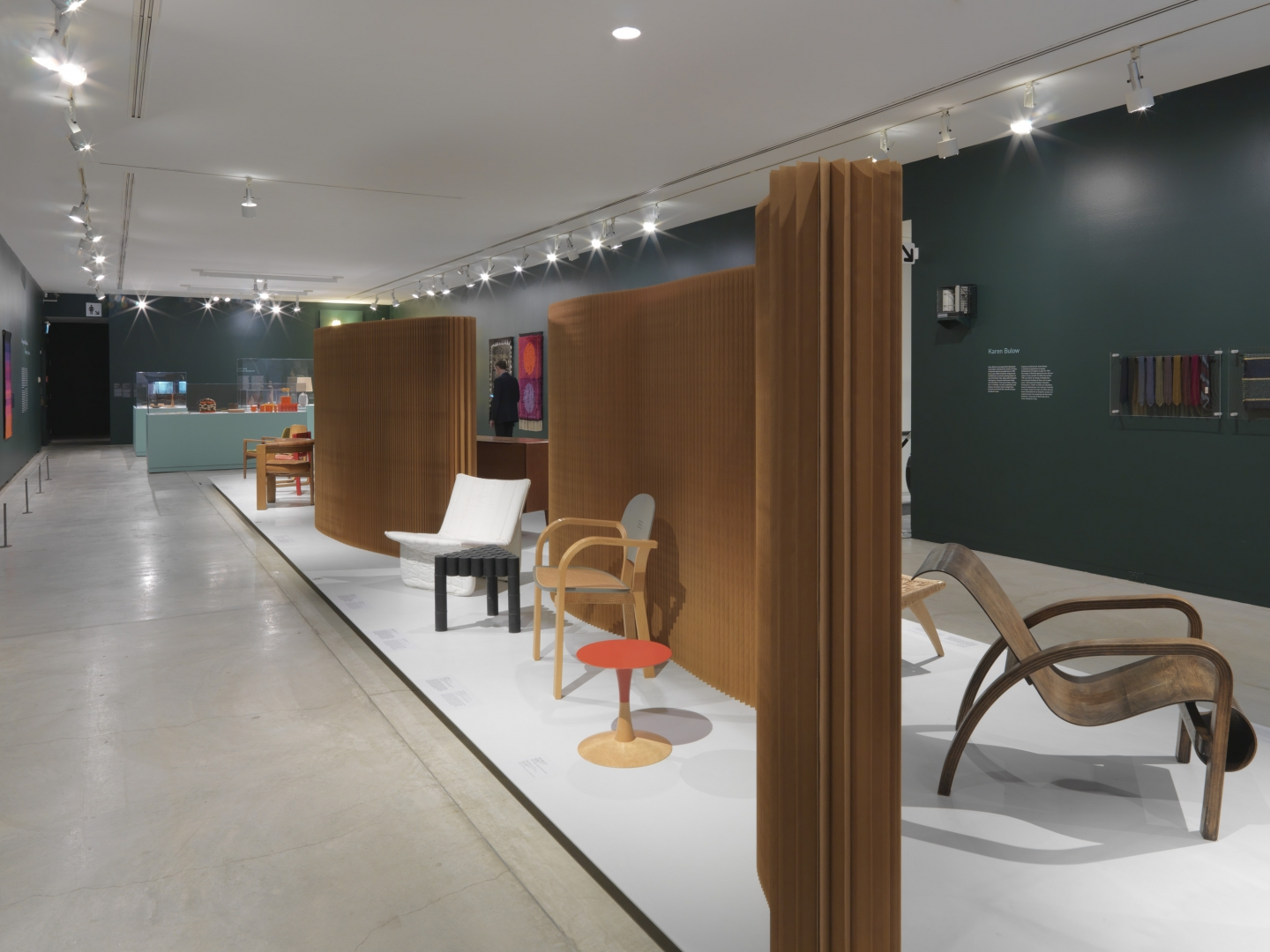 paper softwall used as a partition for a museum exhibition.