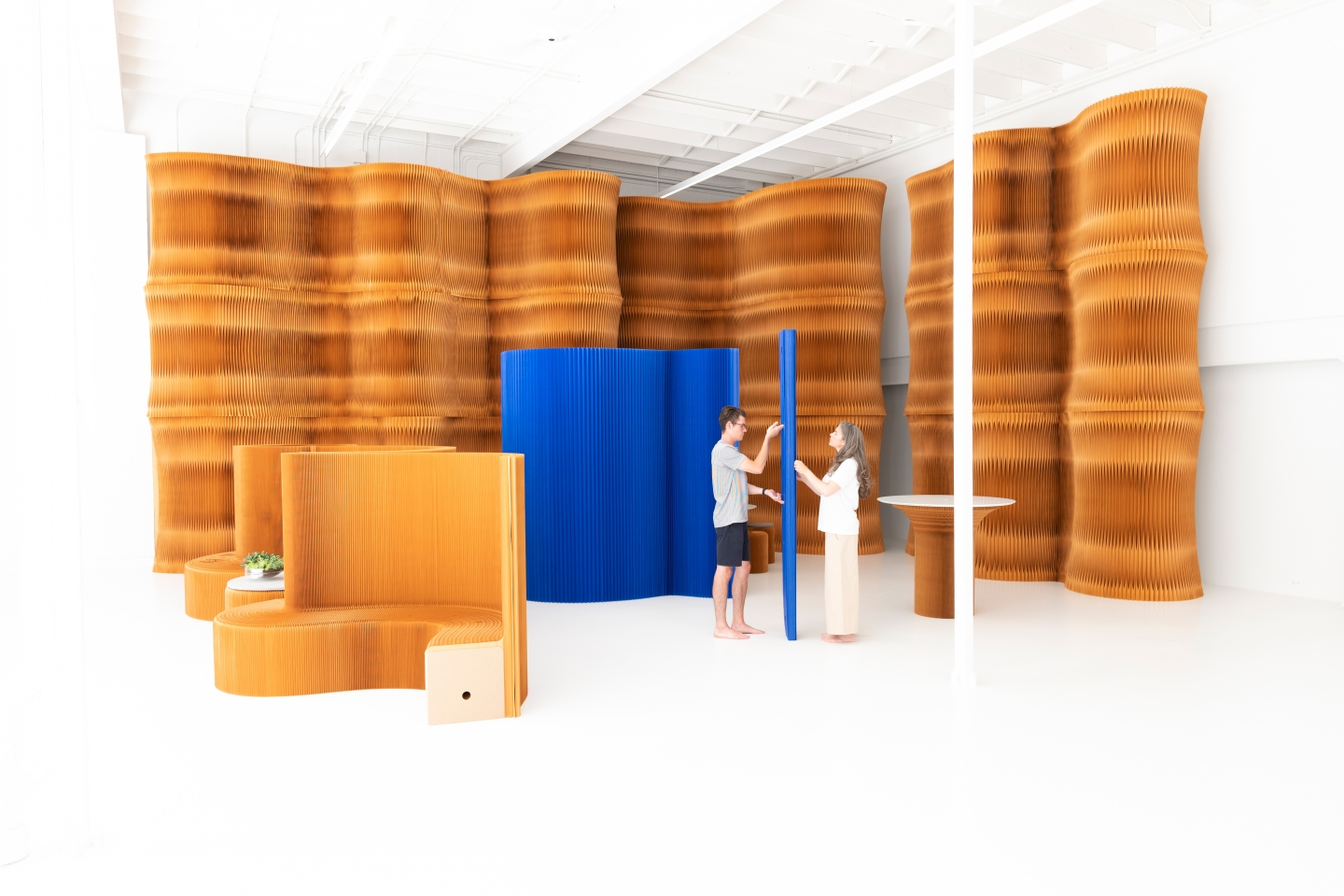 folding partitions - molo's soft collection at orgatec 2018