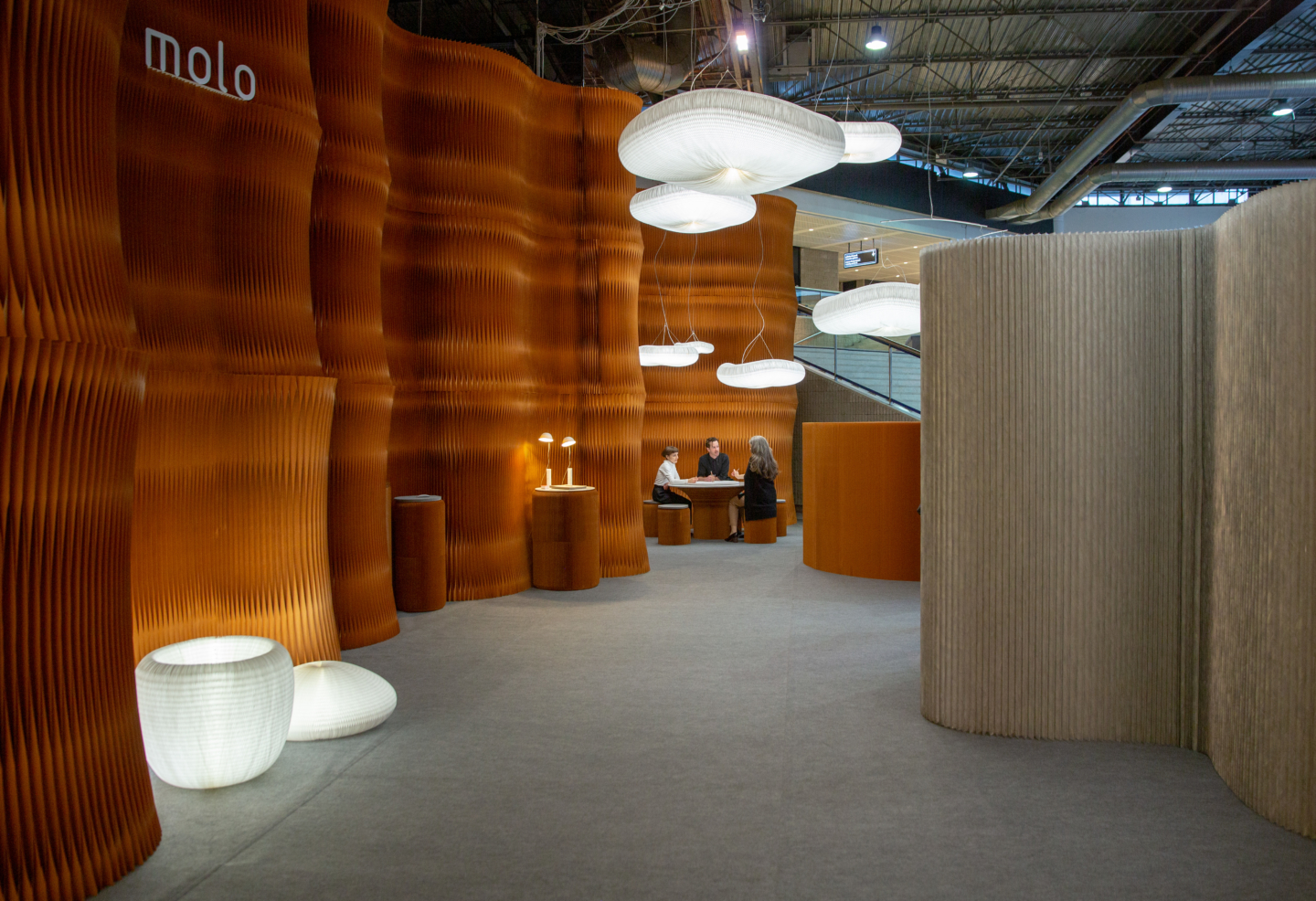 paper furniture lighting backdrop molo
