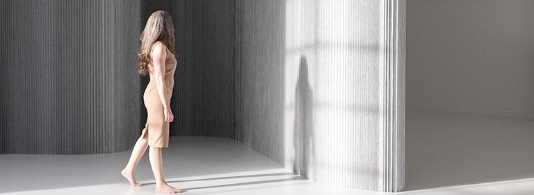 aluminum room divider | molo softwall aluminum textile