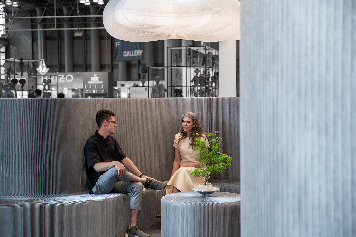 folding aluminum bench and partition systems | molo display at ICFF 2019 NYC