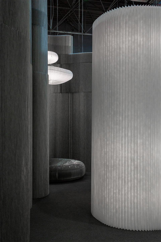 aluminum wall partition illuminated - molo at ICFF 2019