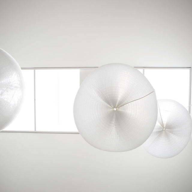 acoustic pendant lighting by molo - Presidio Ventures, SF