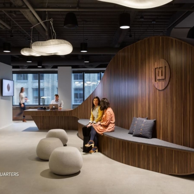cloud acoustic pendant lighting by molo - martin williams office minneapolis